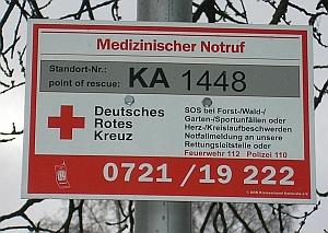 Waldrettungsschild Grünwettersbach