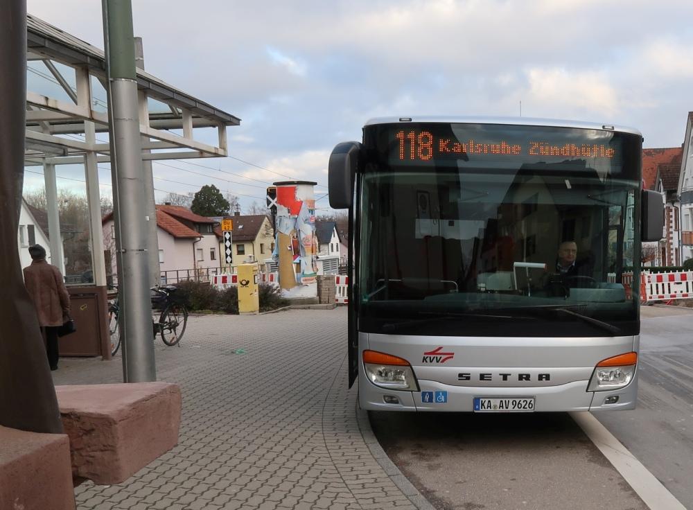 Bus 118 von Langensteinbach zum Zündhütle