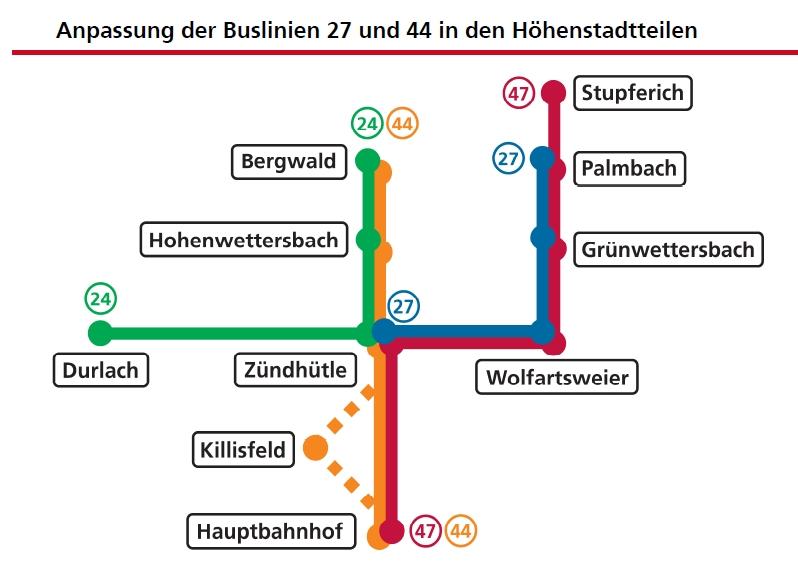 Neues Linienkonzept Karlsruhe - Bergdörfer